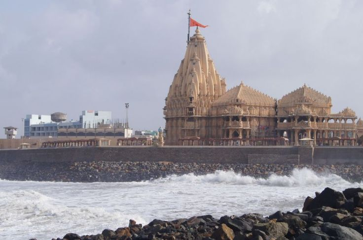 "Sea around ""Somnath"" temple"