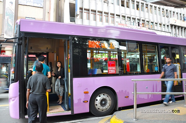 Go KL City Buses with Passengers